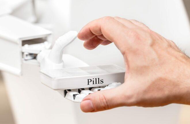 Konzept Medizinroboter oder Pflegeroboter