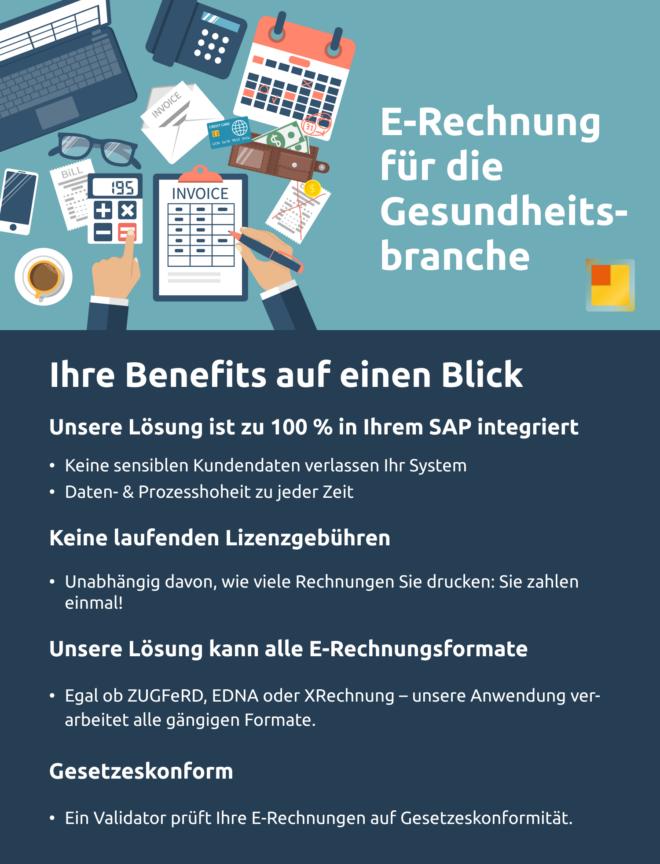 E-Rechnung für die Gesundheitsbranche - Ihre Benefits auf einen Blick